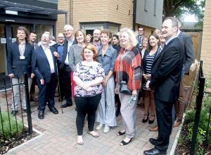 Advance staff  and partners at the opening of Hope House