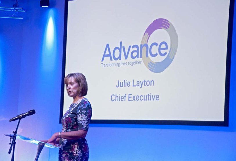 Advance Chief Executive Julie Layton at the conference