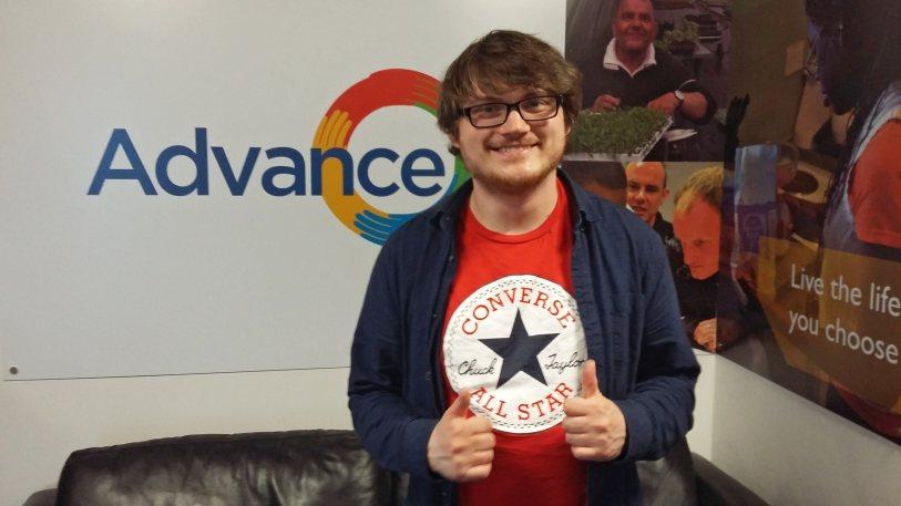 Advance Employment customer, Joshua