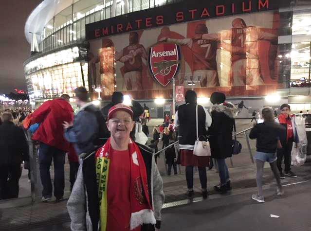 Leslie at the Emirates Stadium