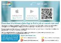 Advance Employment App Information