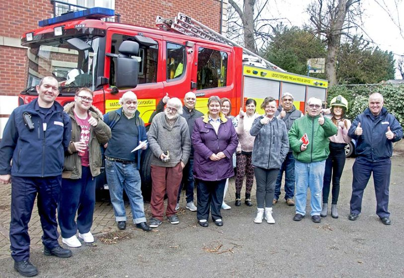 Advance customers from Market Harborough with local fire crew