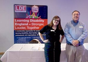 Aimee and Gary Bourlet from Learning Disability England at the Advance Customer Conference