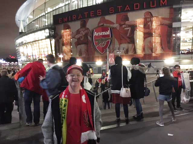 Leslie at the Emirates Stadium