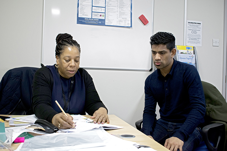 George with Advance Employment Advisor, Helen