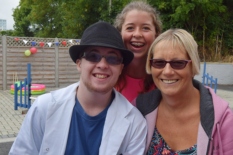 Martyn with Mum and sister