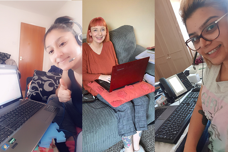 Customer Services working from home