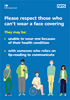 Face covering exemption health poster