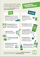 Mental Health First Aid - Address Your Stress poster