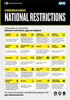 National restrictions poster