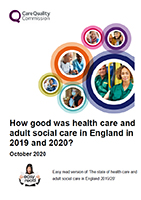 CQC State of Care Report 2020 - Easy Read