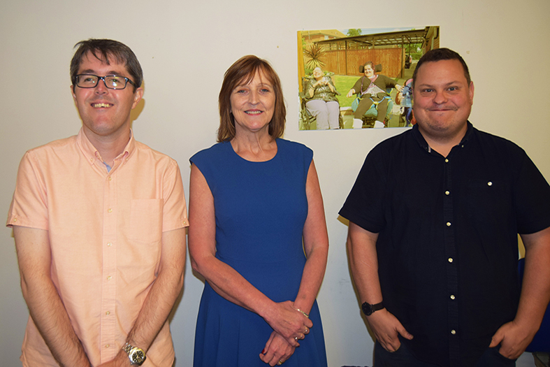 Advance Housing and Support shared Owner Chris, left